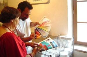 Choix des 1200 couleurs de la gamme BIOROX peinture