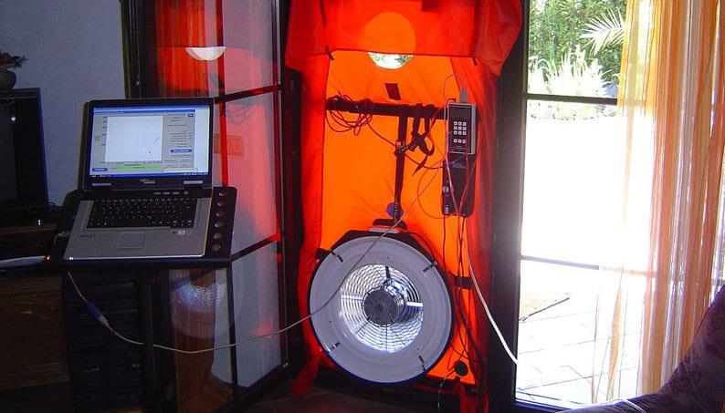 blower door test etanchéité à l'air