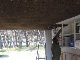 Isolation liège plafond