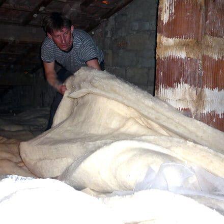 Isolation thermique laine de mouton rouleau